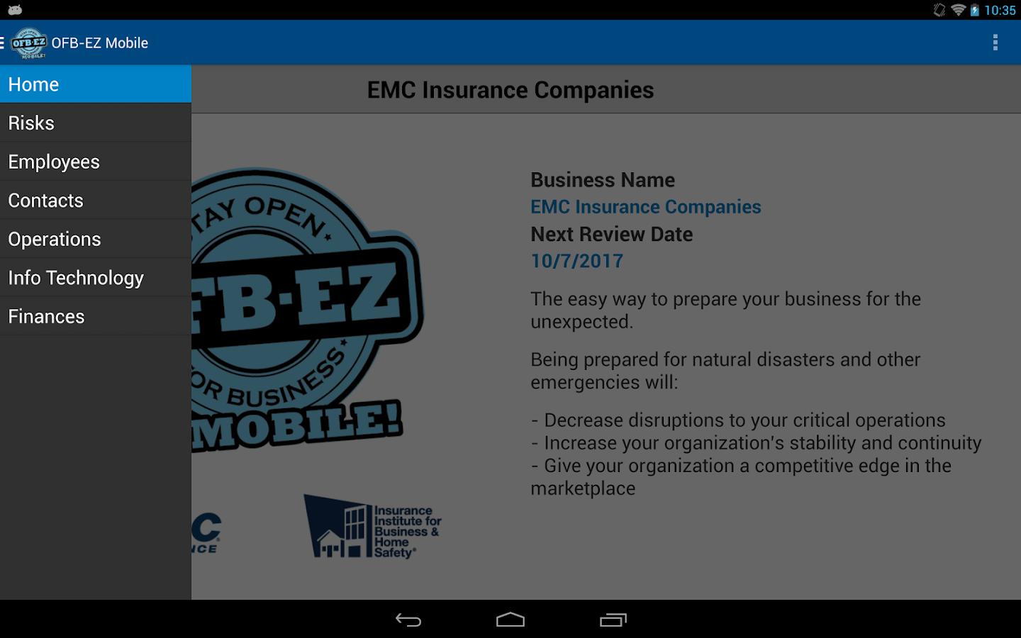OFB-EZ Mobile- screenshot