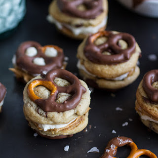 "Peanut Butter Stuffed Chocolate Covered Pretzel ""N"" Cream (NO COOKIE VERSION)."