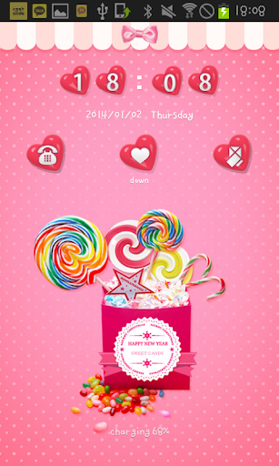 candypop go locker theme
