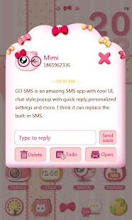 GO SMS PRO PINKYCAT THEME- screenshot thumbnail