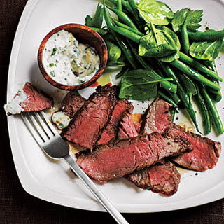 Flank Steak with Spicy Lemon Sauce.
