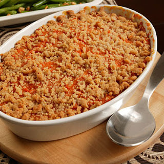 Sweet Potato Purée with Streusel Topping.