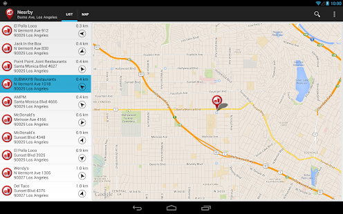 Fast Food Locator / Finder Screenshot 8