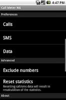 Screenshot of Call Meter NG