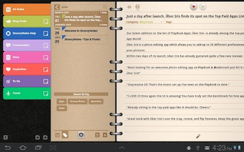 Groovy Notes for Tablets - screenshot thumbnail