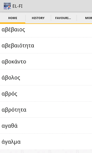 GreekFinnish Gem Dictionary