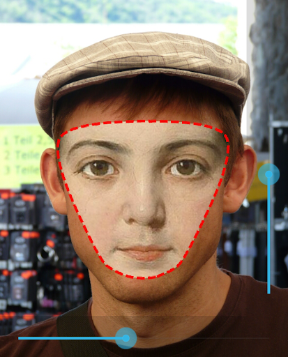 App to crop and paste faces