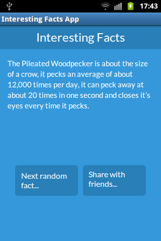Interesting Facts App - screenshot
