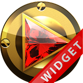 Poweramp Widget Red Diamond
