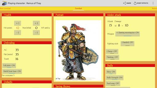 RPGenius: Character Sheets