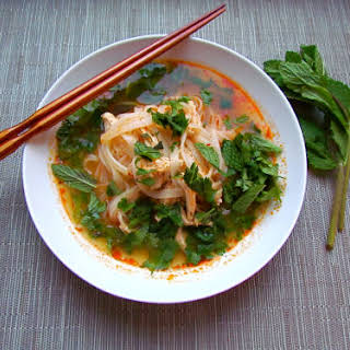 Thai Red Curry Chicken Soup.