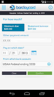 Barclaycard for Android- screenshot thumbnail