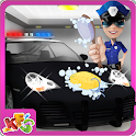 Police Car Wash Salon -Cleanup icon