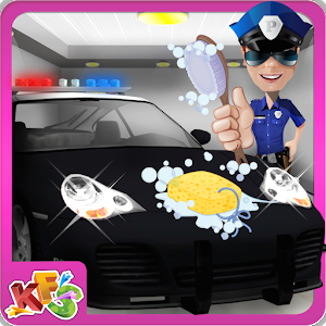 Police Car Wash Salon -Cleanup for PC and MAC
