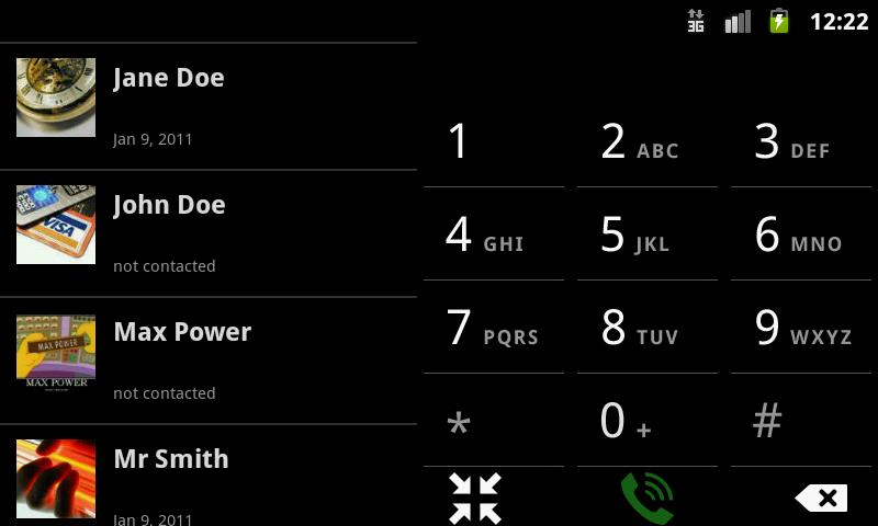 Dialer2 - screenshot