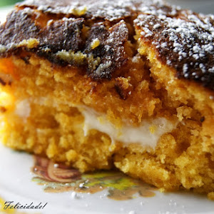 Pumpkin and Gila Squares with Cream Cheese Filling