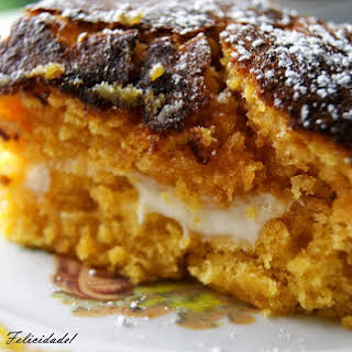 Pumpkin and Gila Squares with Cream Cheese Filling.