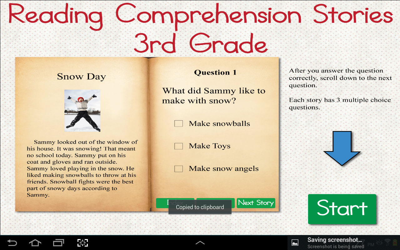 Worksheet Reading Comprehension 3 reading comprehension grade 3 android apps on google play screenshot