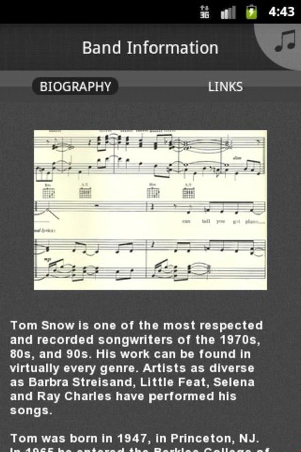 Tom Snow - screenshot