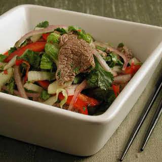Thai Tenderloin Salad.
