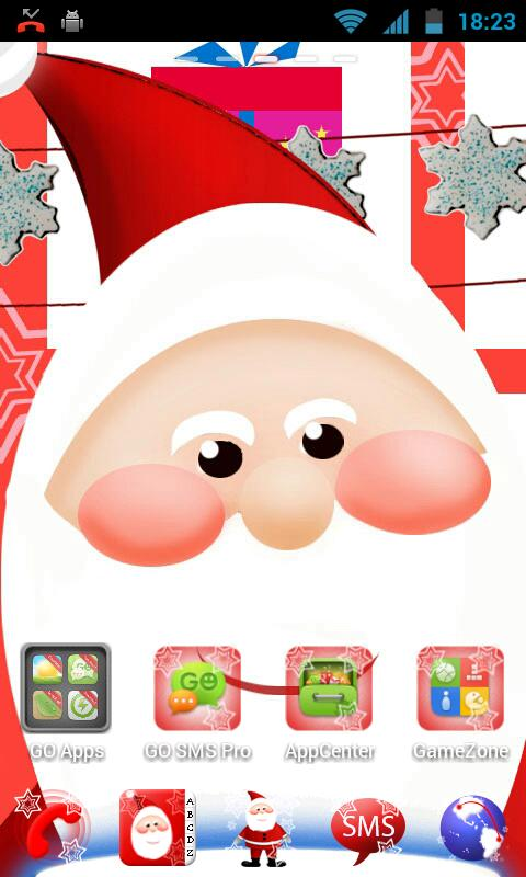 GO Launcher EX Santa Claus - screenshot