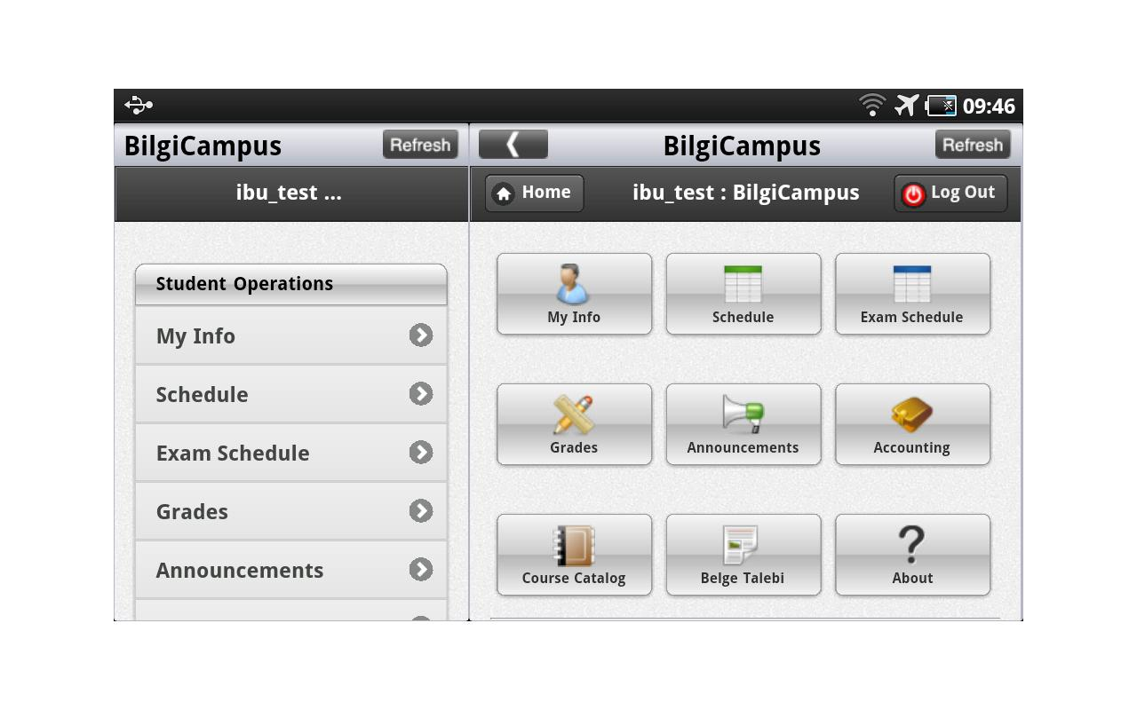 BilgiCampus- screenshot