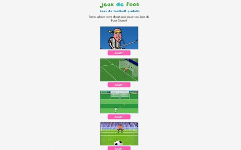 Jeux de Foot - screenshot thumbnail