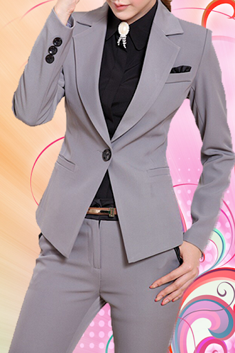 Office Woman Photo Suit