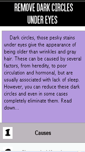 Remove dark circles under eyes