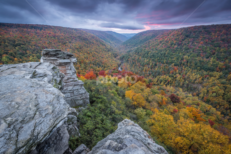 Fall colors in West Virginia by Ferruccio Galbiati - Landscapes Mountains & Hills ( nature, fall colors, west virginia, sunset, travel, landscape )
