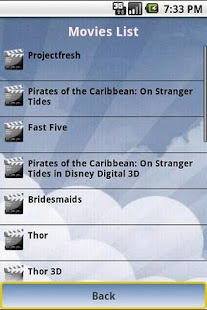 Cinema Movies Showtimes - screenshot thumbnail