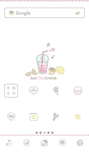 Sweet Pink Lemonade 도돌런처 테마