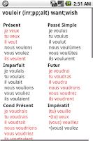 Screenshot of French Verbs Pro