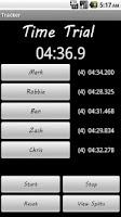 Screenshot of Split Tracker