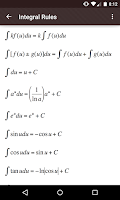 Screenshot of Derivative and Integral Rules