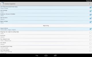 Screenshot of Aviation Checklists