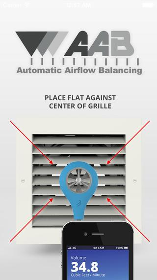 Airflow Balancing Meter- screenshot