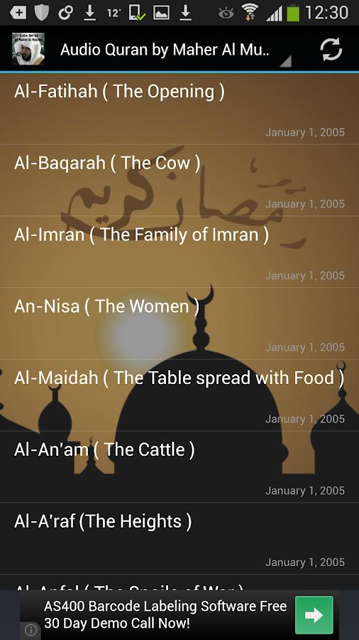Audio Quran Maher Al Muaiqly- screenshot