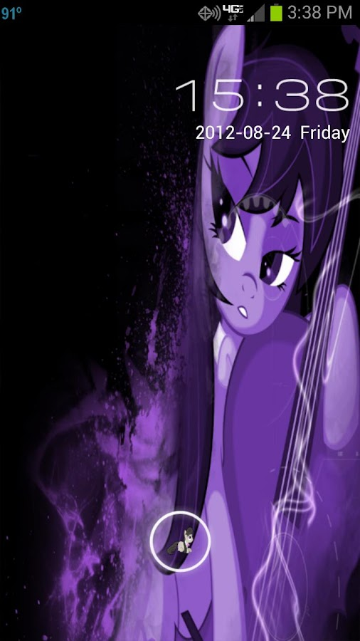 MLP Octavia GO Locker Theme - screenshot