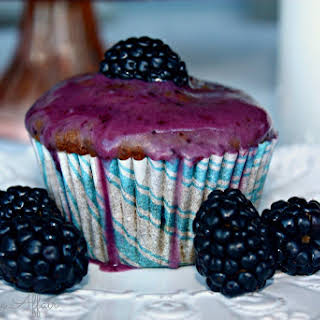 Blackberry Yogurt Muffins.