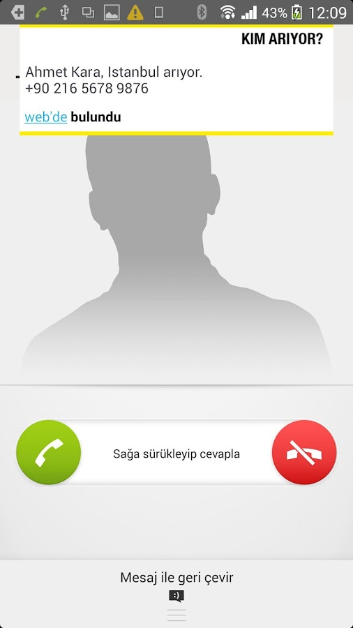 Kim Arıyor? Arayan kimliği- ekran görüntüsü
