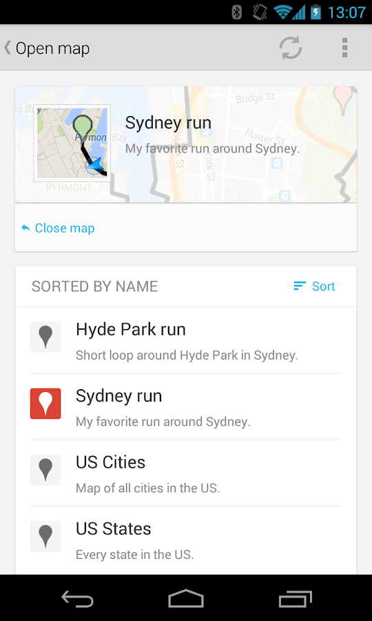 Google Maps Engine - screenshot