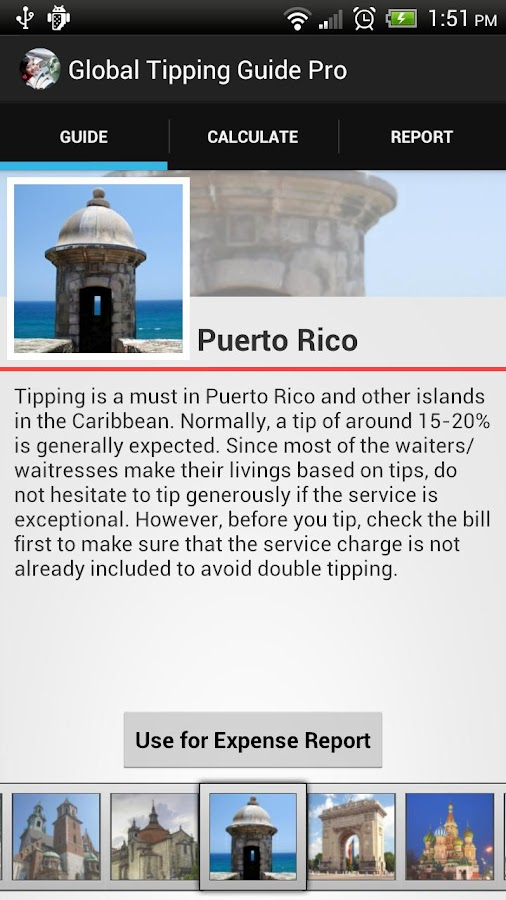 International Tipping Guide- screenshot