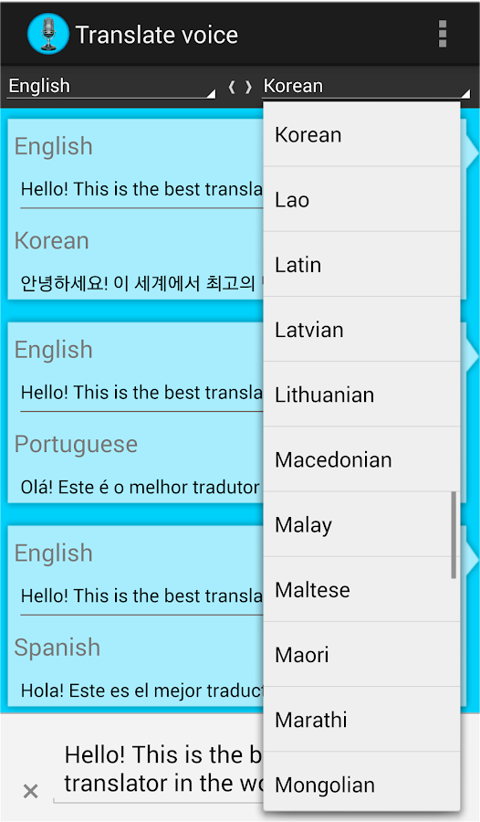 translate voice language translator awesome voice translator speech