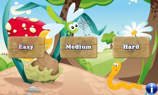 子供のための昆虫やワームゲーム 自然を発見する