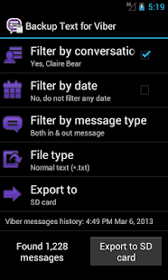 Backup Text for Viber - screenshot thumbnail