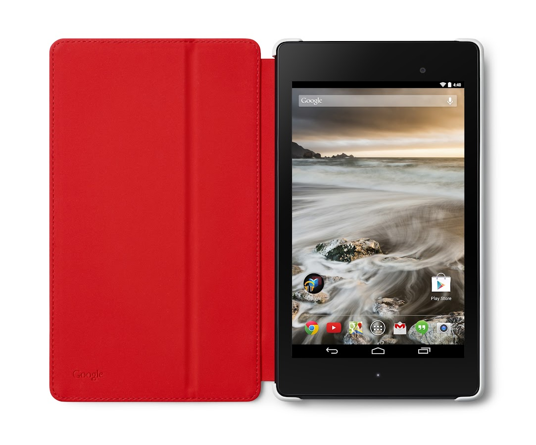 Nexus 7 (2013) Case - White/Red - screenshot
