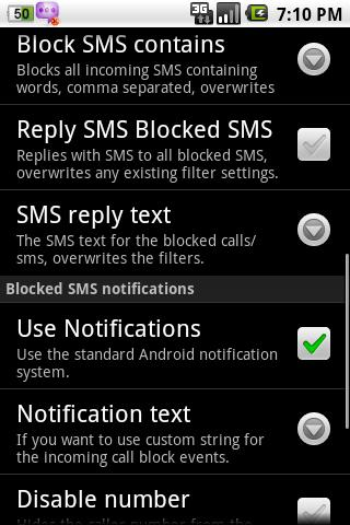 SMS Blocker Free - screenshot