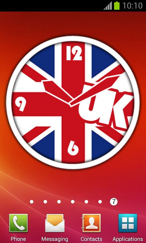 UK Flag Clock + Alarm | London - screenshot