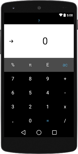 Black Material Calculator OLED